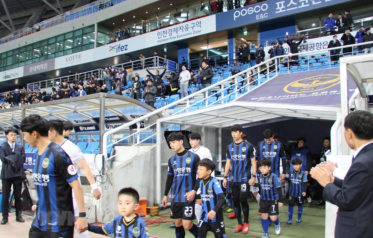 Công Phượng ra sân trong đội hình chính của Incheon United. (Nguồn: Mạnh Hùng/TTXVN)