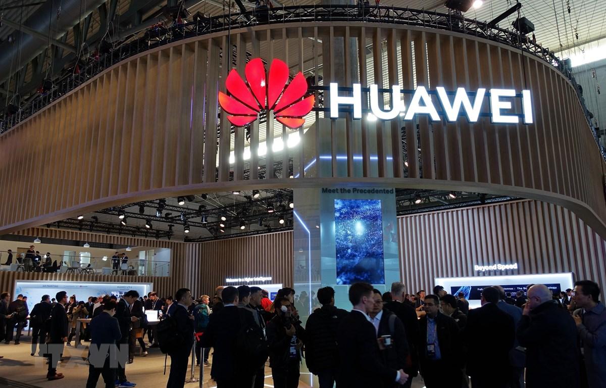 Gian hàng của Huawei tại Hội nghị di động thế giới 2019 ở Barcelona, Tây Ban Nha, ngày 25/2/2019. (Nguồn: THX/ TTXVN)