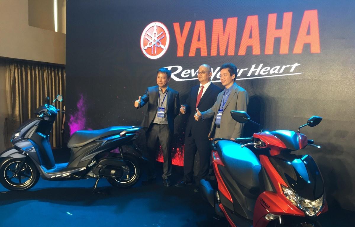 Lễ ra mắt mẫu xe tay ga hoàn toàn mới Yamaha FreeGo 125. (Nguồn: Thế Anh/Vietnam+)