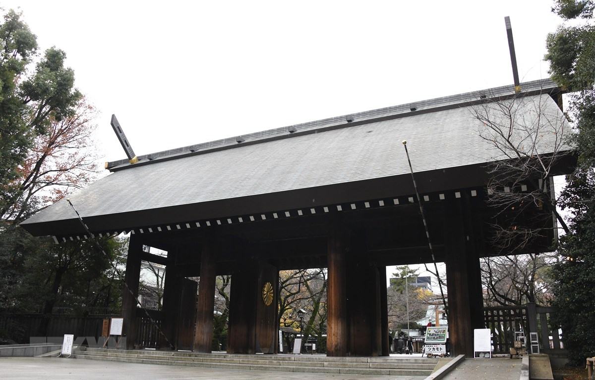 Cổng chính đền Yasukuni tại thủ đô Tokyo, Nhật Bản. (Nguồn: AFP/TTXVN)