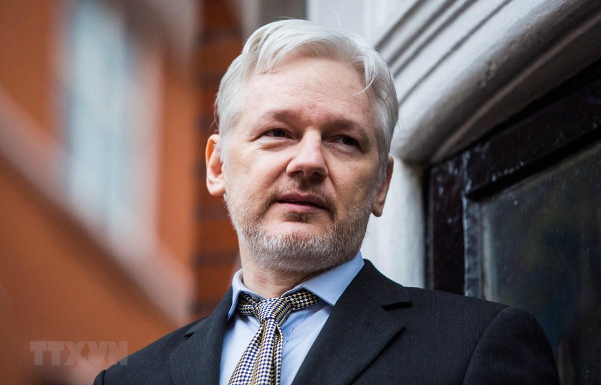 Nhà sáng lập WikiLeaks Julian Assange lưu trú tại Đại sứ quán Ecuador ở London, Anh năm 2016. (Ảnh: AFP/TTXVN)