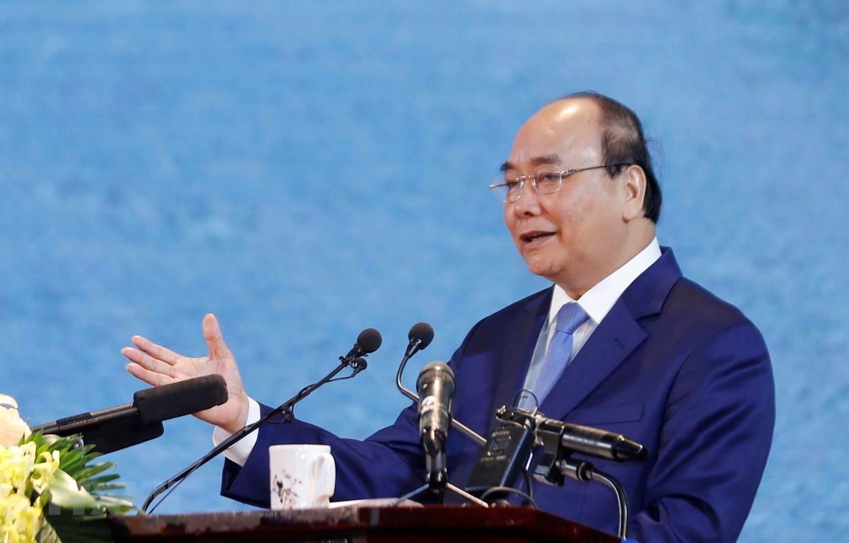 Thủ tướng Nguyễn Xuân Phúc phát biểu chỉ đạo tại hội nghị. (Ảnh: Thống Nhất/TTXVN)