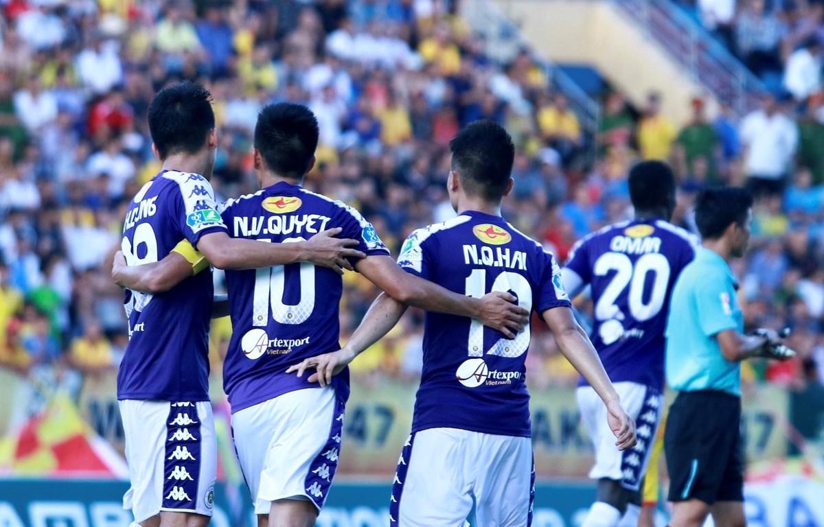 Văn Quyết, Quang Hải sẽ mang lại vinh quang cho Hà Nội FC? (Ảnh: Nguyên An/Vietnam+)