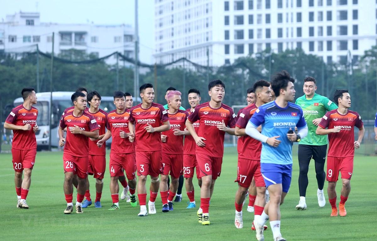 Đội tuyển Việt Nam bắt đầu tập luyện từ ngày 27/8 tới 31/8 tại Hà Nội trước khi sang Thái Lan chuẩn bị cho trận đấu ngày 5/9. (Ảnh: Nguyên An)