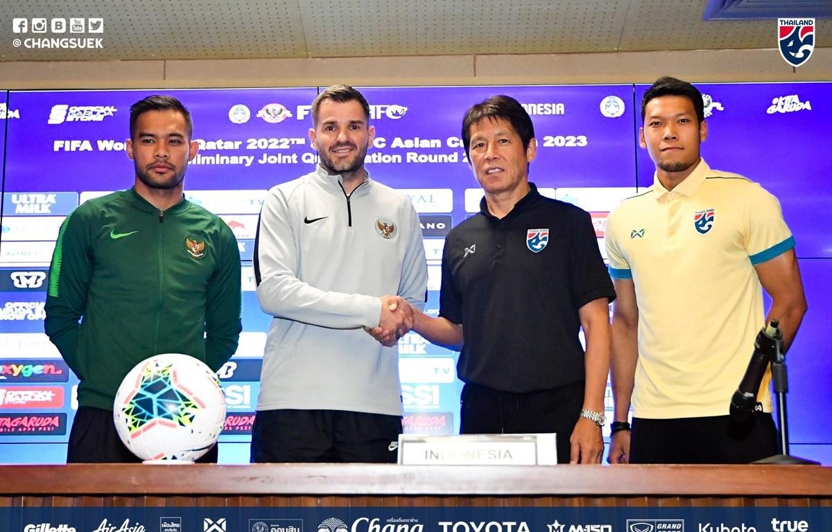 HLV Akira Nishino tự tin tuyển Thái Lan sẽ đánh bại Indonesia ở trận đấu tối 10/9 tại vòng loại hai World Cup 2022. (Ảnh: FAT)