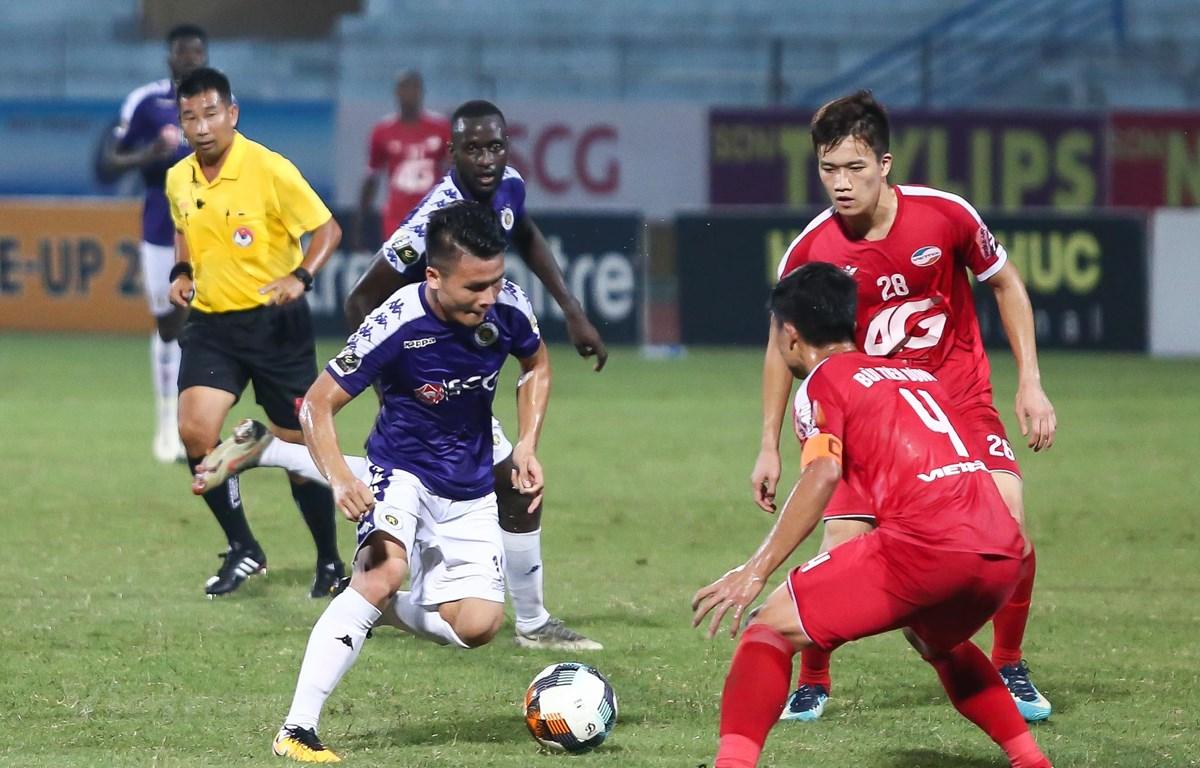Hà Nội FC chỉ cần một chiến thắng nữa để vô địch V-League 2019. (Ảnh: Nguyên An)
