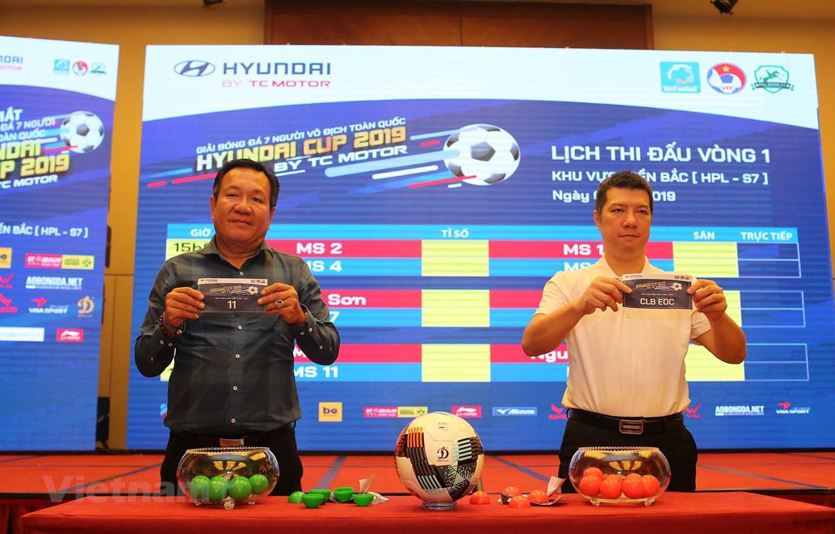 Giải bóng đá 7 người vô địch toàn quốc Hyundai Cup 2019 By TC Motor (VPL-S1) chính thức ra mắt sáng 26/9 tại Hà Nội. (Ảnh: Hải Đăng)
