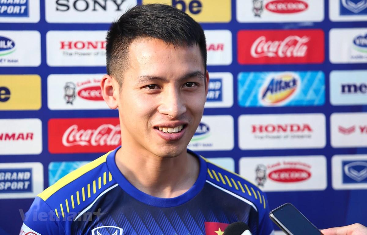 Tiền vệ Đỗ Hùng Dũng tự tin tuyển Việt Nam đánh bại Malaysia ở trận đấu ngày 10/10 tới trên sân nhà Mỹ Đình. (Ảnh: Nguyên An)