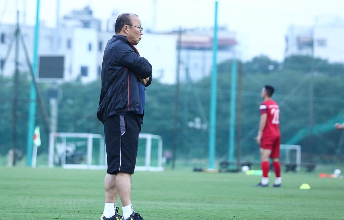 Huấn luyện viên Park Hang-seo đã nghiên cứu rất kỹ đối thủ Malaysia trước trận đấu. (Ảnh: Nguyên An)