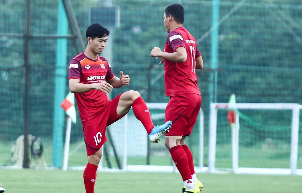 Công Phượng được huấn luyện viên Park Hang-seo xếp đá chính trước Malaysia ở trận đấu tối nay (10/10). (Ảnh: Nguyên An)