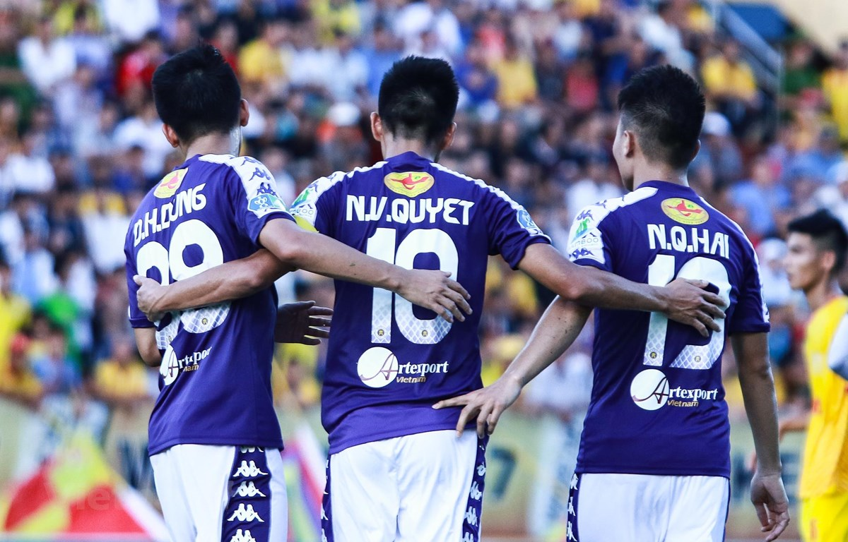 Hà Nội FC giành tới 5 chức vô địch V-League nhưng chưa một lần lên ngôi ở sân chơi Cúp Quốc gia. (Ảnh: Nguyên An)