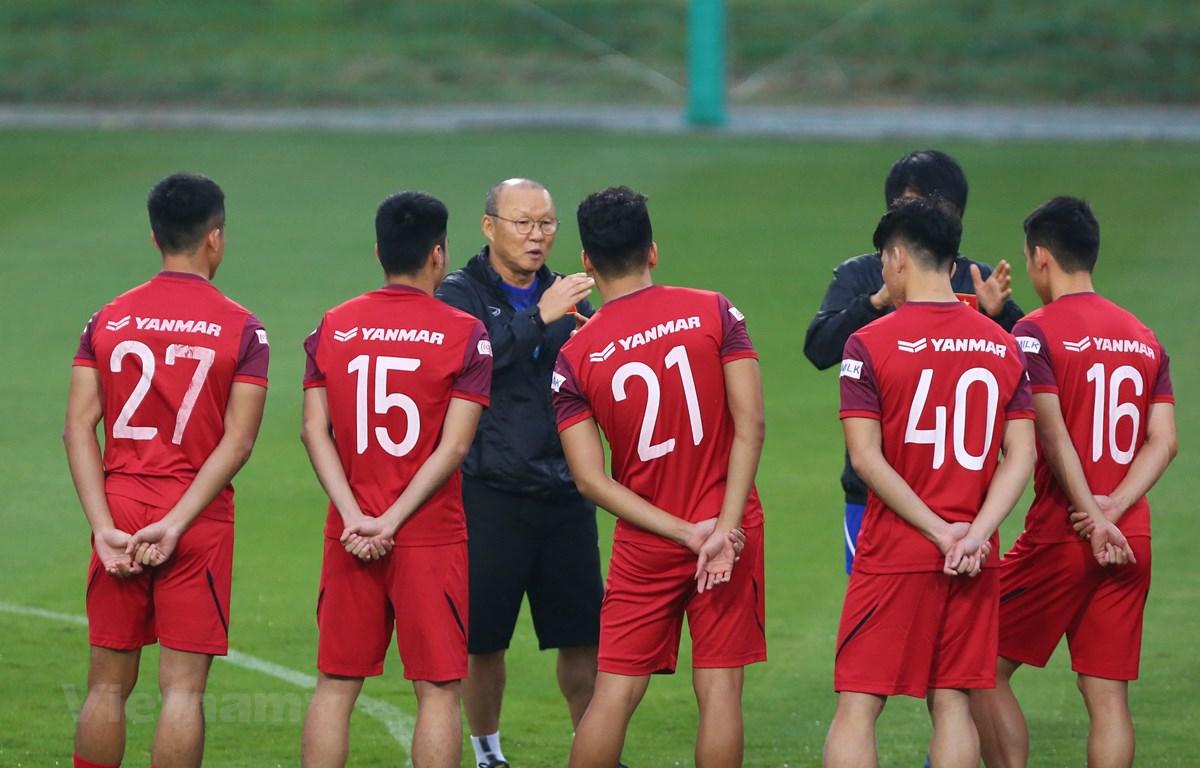 Đội tuyển Việt Nam nắm lợi thế hơn đối thủ khi có giải vô địch quốc gia quay trở lại thi đấu sớm. (Ảnh: Nguyên An/Vietnam+)