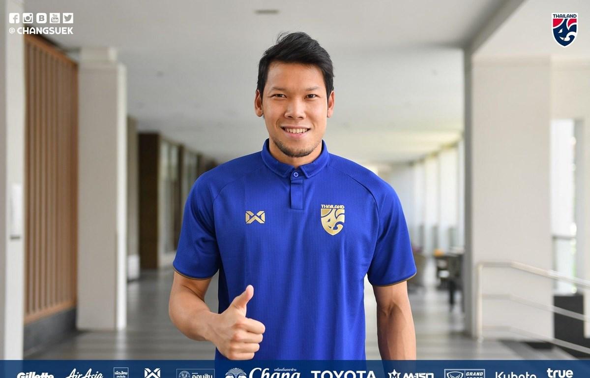 Thủ môn Thamsatchanan Kwin tự tin tuyển Thái Lan sẽ đánh bại Việt Nam ở cuộc chạm trán tại vòng loại World Cup 2022 tới. (Ảnh: FAT)
