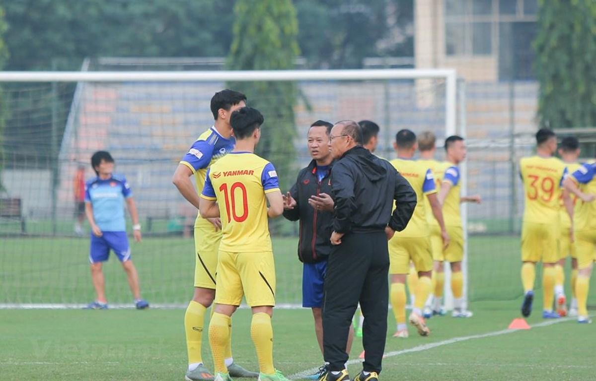 Đội tuyển Việt Nam giữ kín chiến thuật đối phó với UAE ở vòng loại World Cup 2022 tới. (Ảnh: Ngọc Tú)
