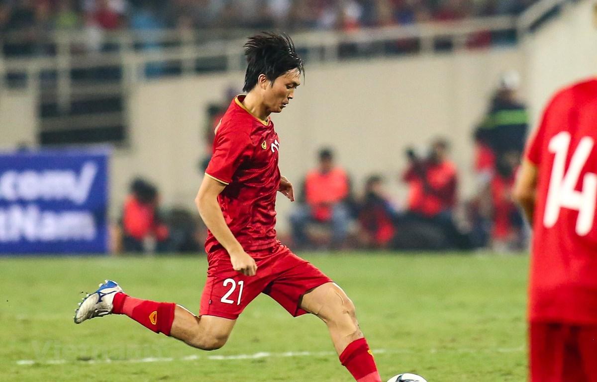 Tiền vệ Tuấn Anh được huấn luyện viên Park Hang-seo đánh giá là cầu thủ tài năng và giàu sức chiến đấu. (Ảnh: Nguyên An)