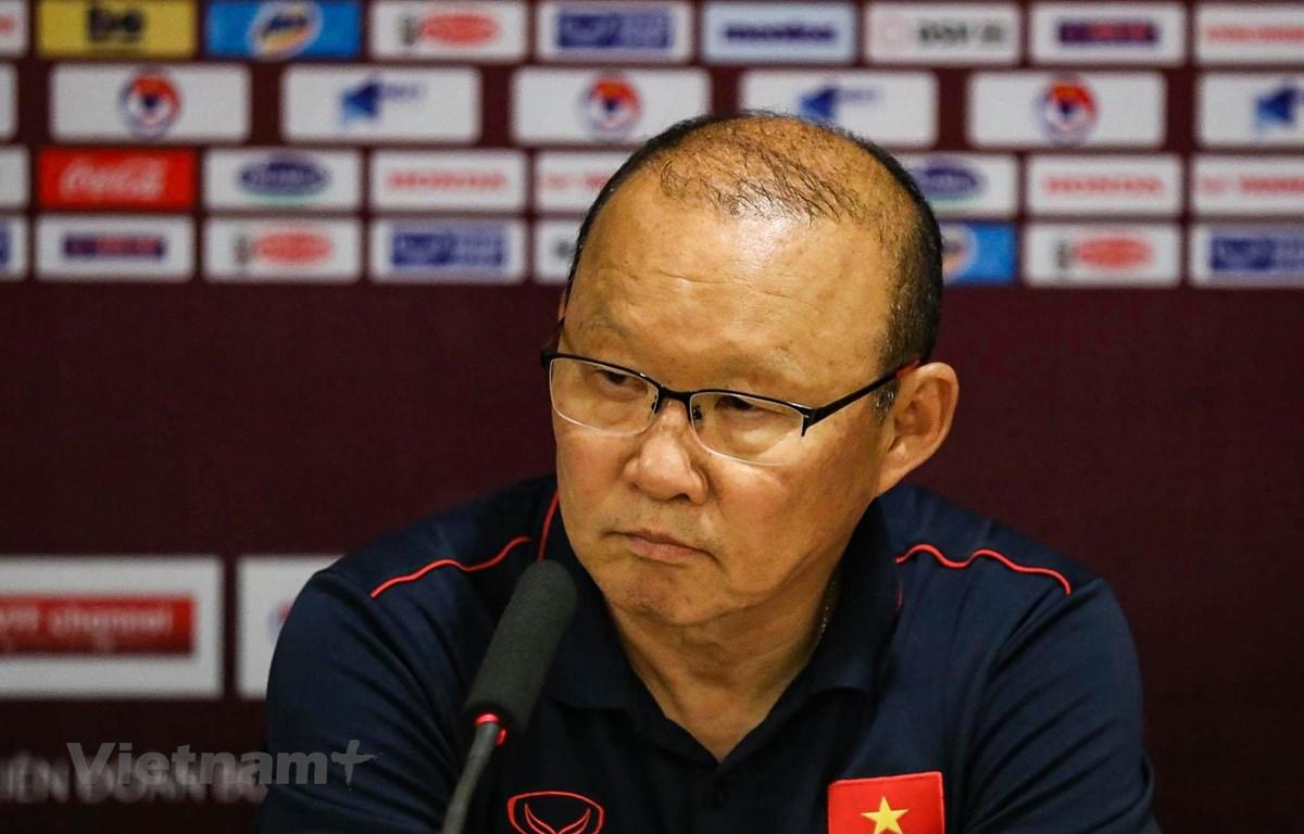 Huấn luyện viên Park Hang-seo coi Thái Lan là đối thủ lớn nhất của Việt Nam tại bảng G vòng loại hai World Cup 2022 khu vực châu Á. (Ảnh: N.Đ)