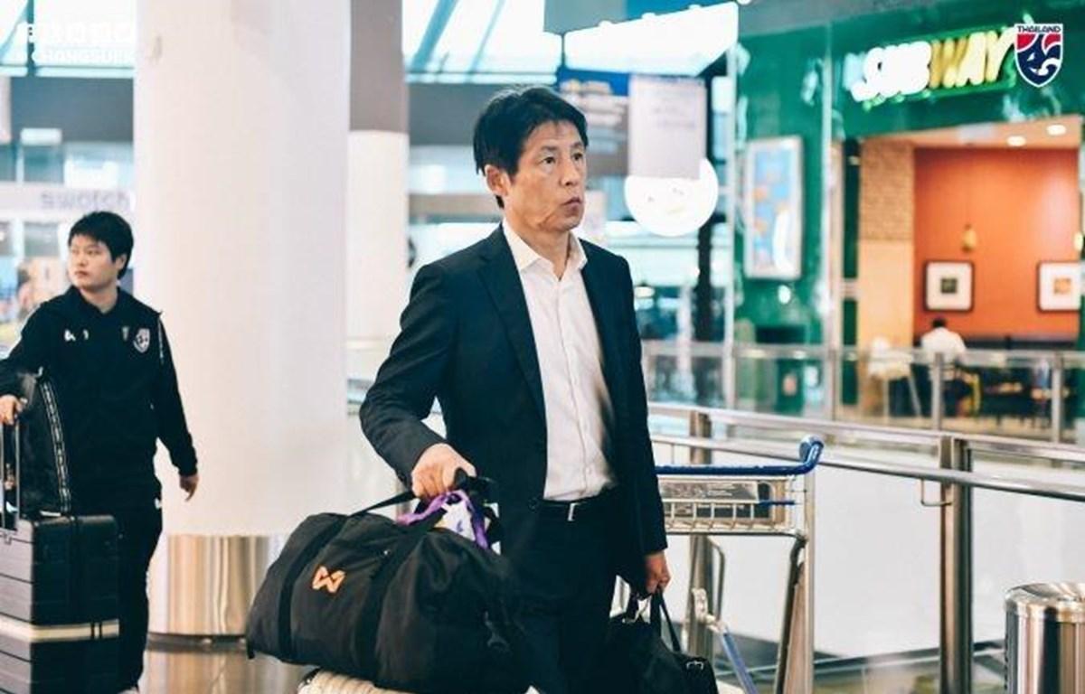 Đội tuyển Thái Lan có mặt tại Hà Nội để chuẩn bị cho trận đấu với tuyển Việt Nam vào ngày 19/11 tới đây. (Ảnh: FAT)