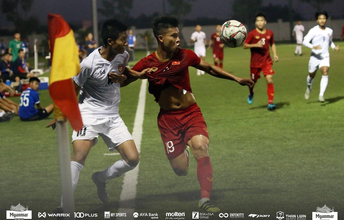 U22 Việt Nam hoà 2-2 U22 Myanmar ở trận đấu giao hữu trước thềm SEA Games 30. (Ảnh: MFF)