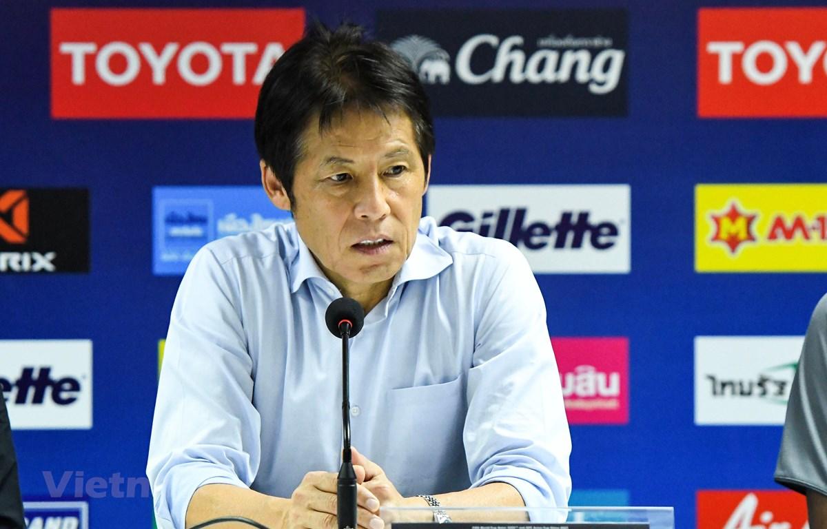 Huấn luyện viên Akira Nishino khen ngợi tuyển Việt Nam là đội bóng tuyệt vời. (Ảnh: Nguyên An/Vietnam+)