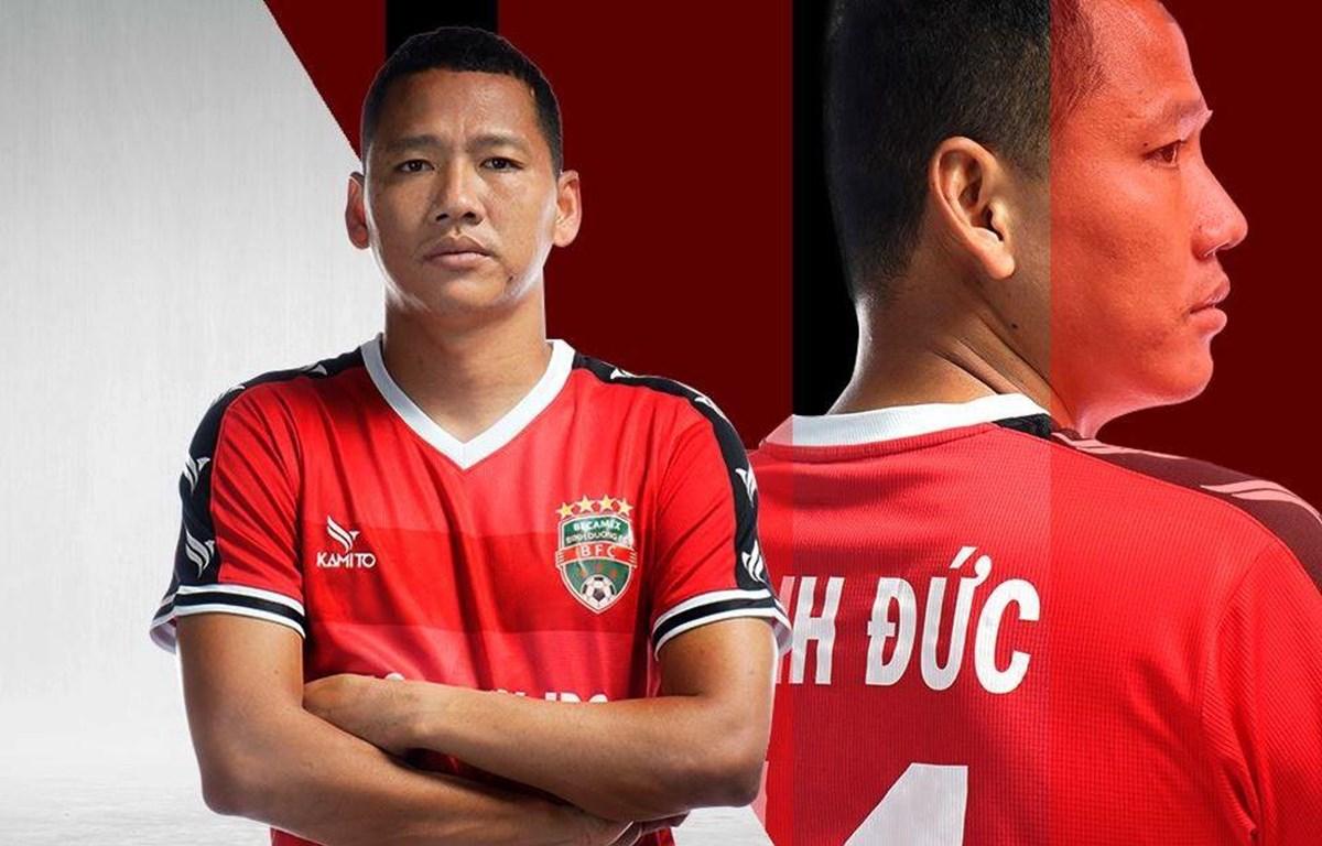 Sau khi xin rút khỏi đội tuyển quốc gia, tiền đạo Anh Đức chia tay câu lạc bộ Becamex Bình Dương. (Ảnh: CLB Bình Dương)