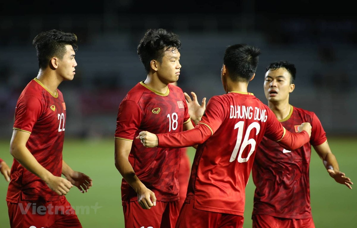 U22 Việt Nam vẫn có nguy cơ bị loại sớm ở bảng B môn bóng đá nam SEA Games 30. (Ảnh: Vietnam+)