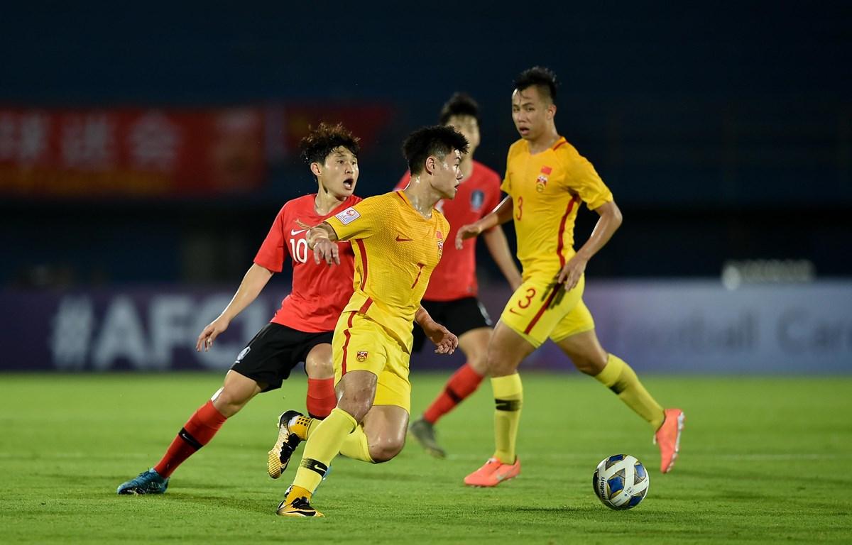 U23 Trung Quốc thua 0-1 U23 Hàn Quốc ở trận đầu ra quân tại vòng chung kết U23 châu Á 2020 tối 9/1. (Ảnh: AFC)