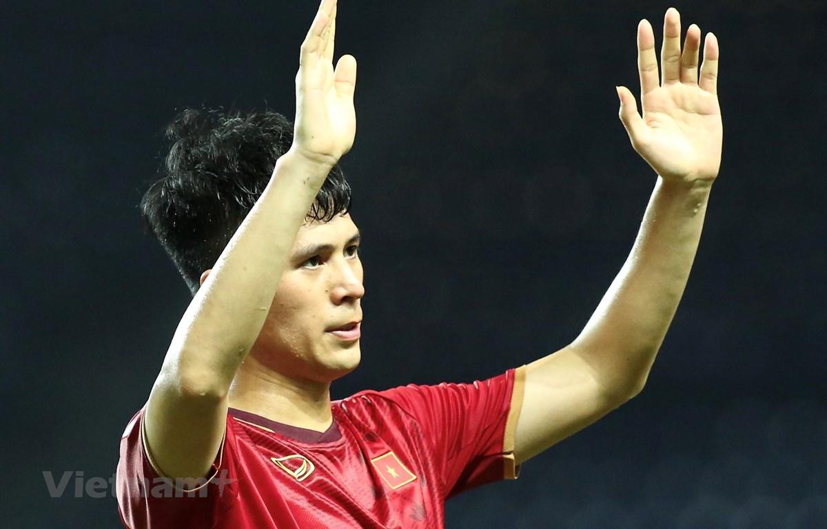 Đình Trọng bị treo giò ở trận đấu với tuyển Malaysia vào tháng 3 tới tại vòng loại World Cup 2022. (Ảnh: Nguyên An/Vietnam+)