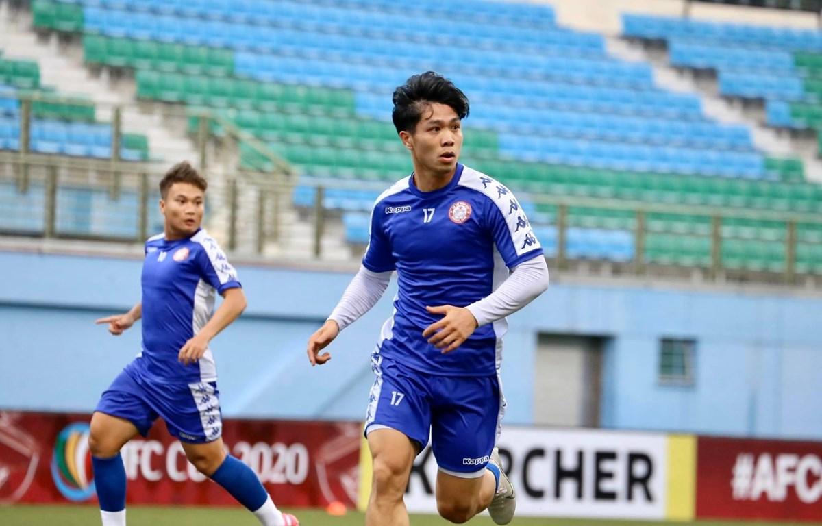 Công Phượng tập luyện tích cực với câu lạc bộ Thành phố Hồ Chí Minh trước lượt trận thứ hai vòng bảng AFC Cup 2020. (Ảnh: CLB TP.HCM)