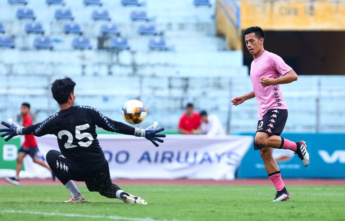 Văn Quyết là tiền đạo nội duy nhất ghi bàn ở vòng 3 V-League 2020. (Ảnh: Nguyên An/Vietnam+)