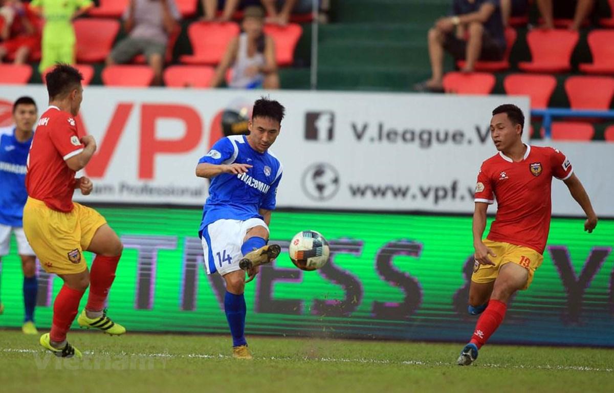 Tiền vệ Hải Huy lạc quan sau chấn thương nặng ở vòng 3 V-League chiều 6/6 trước đối thủ Hồng Lĩnh Hà Tĩnh. (Ảnh: VFF)