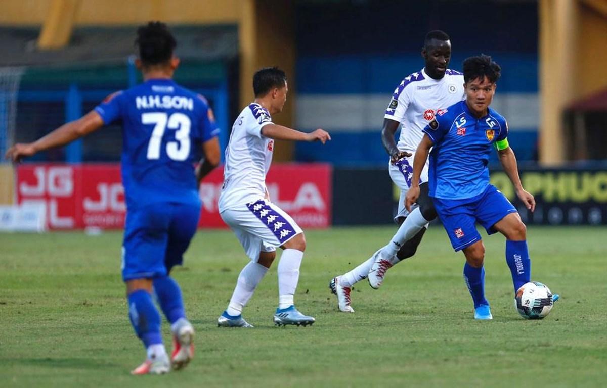 Quảng Nam vô địch mùa giải 2017 ấn tượng nhưng sau đó đi xuống nhanh chóng khi liên tục phải trụ hạng. (Ảnh: VPF)