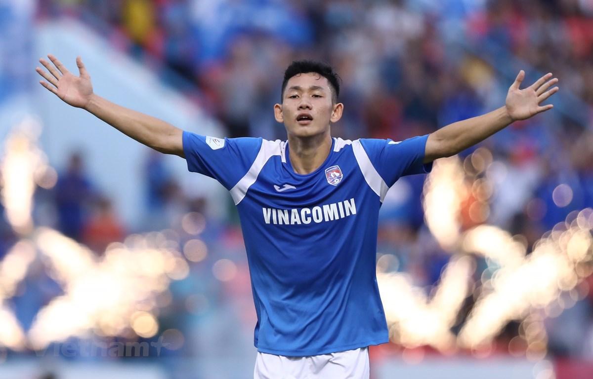 Tiền vệ trẻ Hai Long của Than Quảng Ninh sở hữu nhiều tiềm năng để trở thành một ngôi sao lớn. (Ảnh: Nguyên An/Vietnam+)