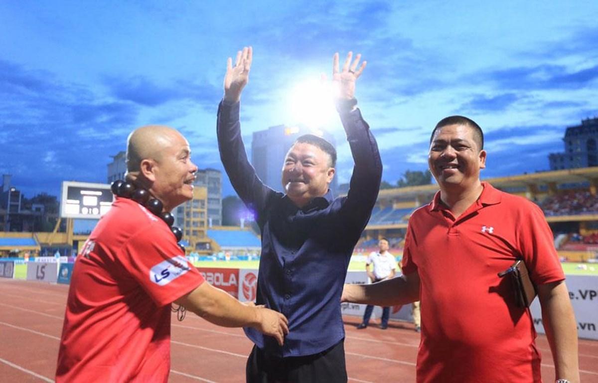 HLV Trương Việt Hoàng giúp Viettel thắng đậm đội bóng cũ Hải Phòng ở vòng 9 V-League 2020. (Ảnh: VPF)