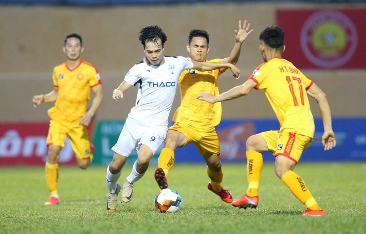HAGL hòa nhạt nhòa Thanh Hóa ngày Anh Đức tái xuất sân cỏ V-League | Bóng đá | Vietnam+ (VietnamPlus)