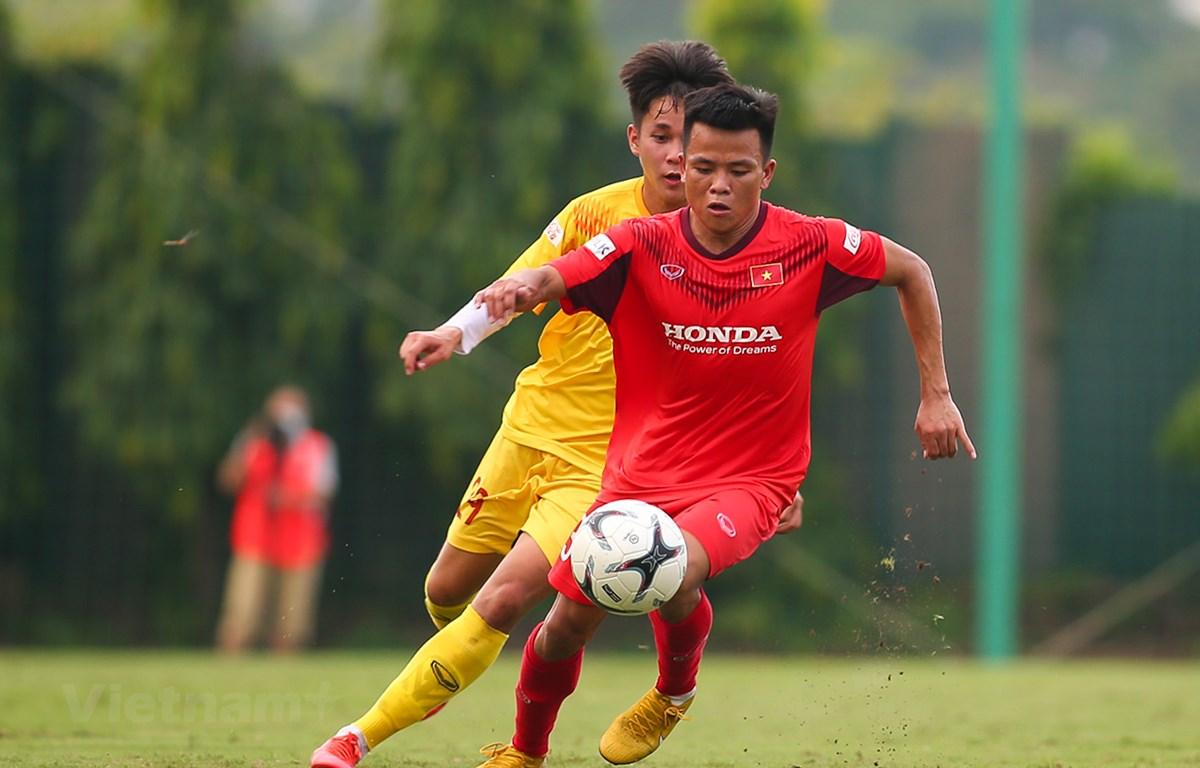 U22 Việt Nam sẽ được thi đấu với nhiều đàn anh ở đội tuyển Việt Nam khi đá giao hữu với Viettel. (Ảnh: Phúc Tá/Vietnam+)