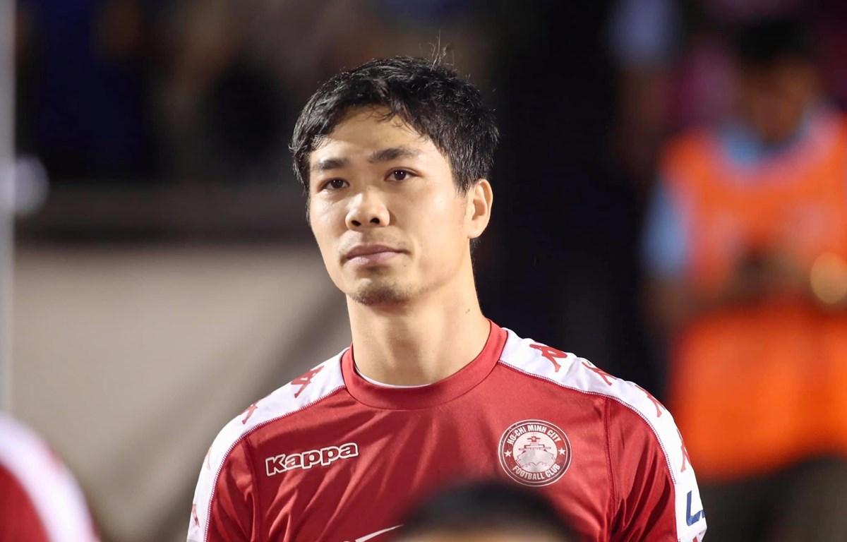 Công Phượng nhận đủ thẻ phạt, nên bị treo giò ở trận Hà Nội FC với TP.HCM tới. (Ảnh: Hải An/Vietnam+)