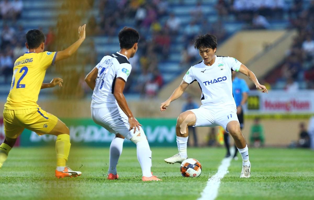 Hoàng Anh Gia Lai nhiều khả năng rơi vào nhóm 6 đội cuối bảng xếp hạng sau giai đoạn một V-League 2020. (Ảnh: Hiển Nguyễn/Vietnam+)