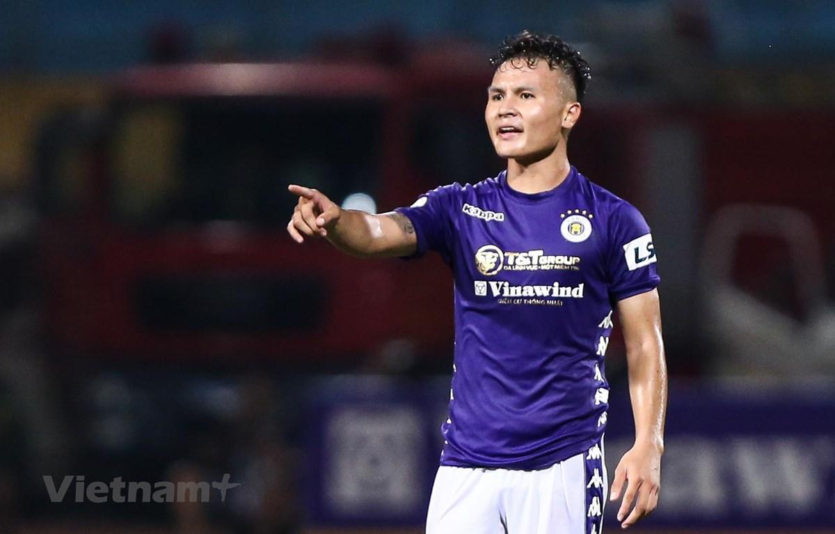 Hà Nội FC chiếm nhiều lợi thế nhất với lịch thi đấu thuận lợi. (Ảnh: Hiển Nguyễn/Vietnam+)