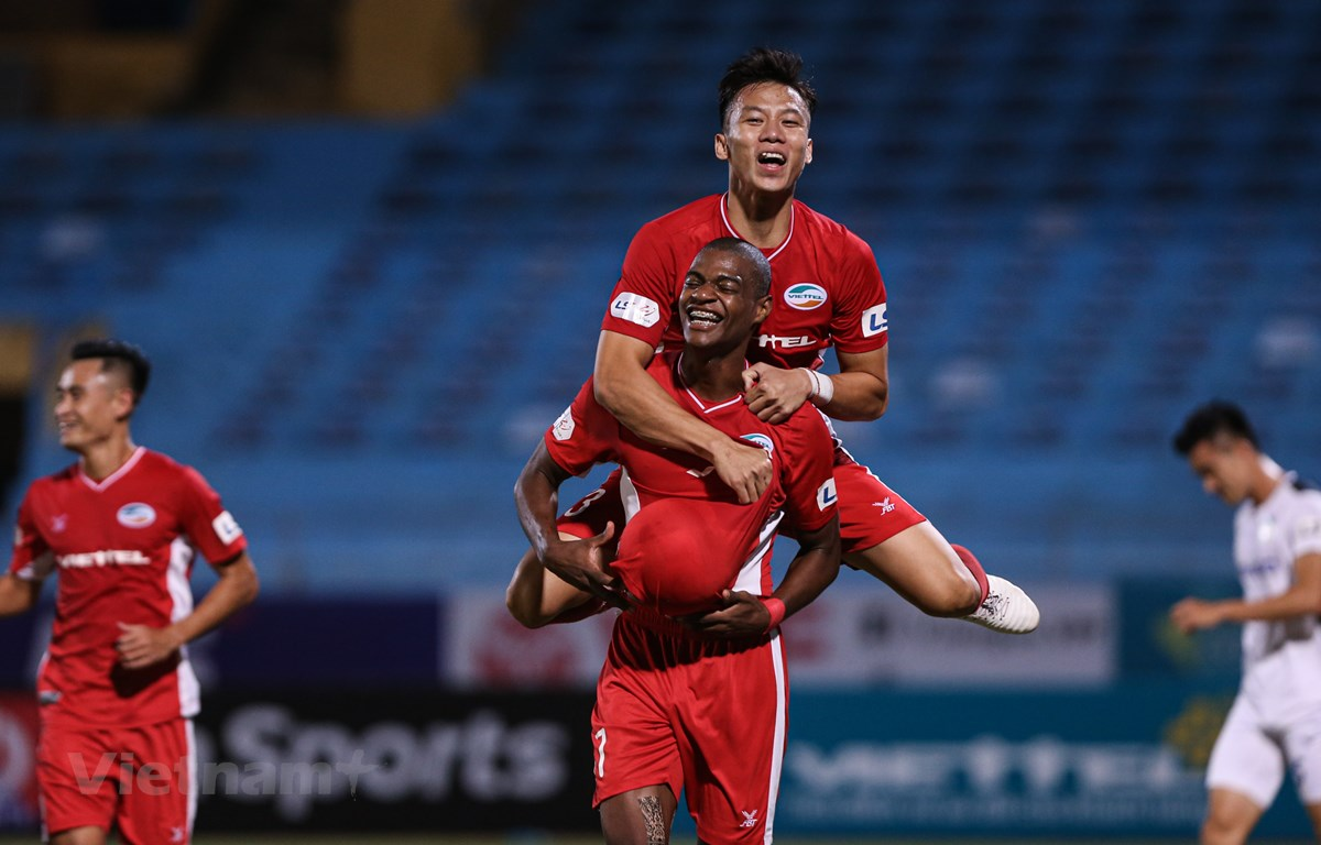 Viettel tiếp tục thể hiện phong độ cao, dẫn đầu V-League 2020. (Ảnh: Hiển Nguyễn/Vietnam+)