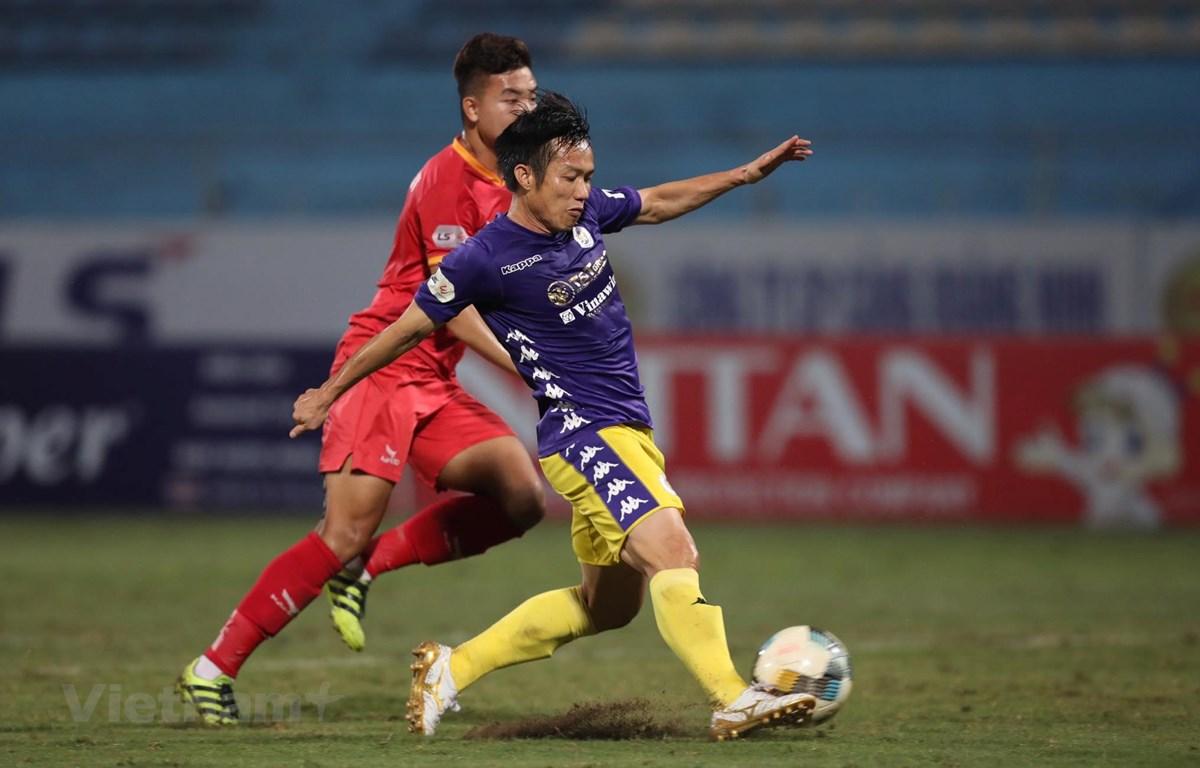 Hà Nội FC lo ngại Viettel trong cuộc đua tới chức vô địch V-League 2020. (Ảnh: Hiển Nguyễn/Vietnam+)