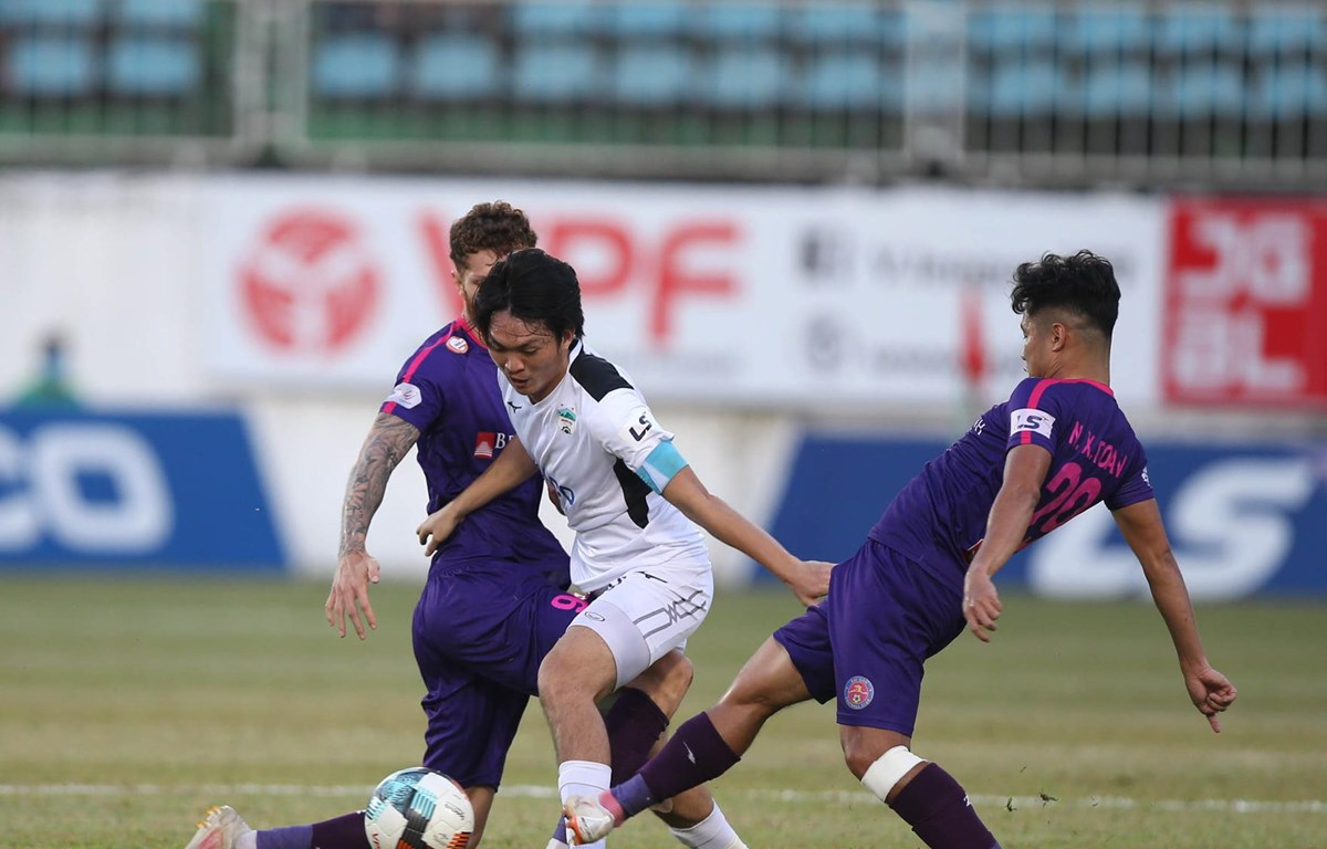 Sài Gòn FC thắng 4-2 Hoàng Anh Gia Lai ở vòng 4 giai đoạn hai V-League 2020 vừa qua. (Ảnh: HAGL)
