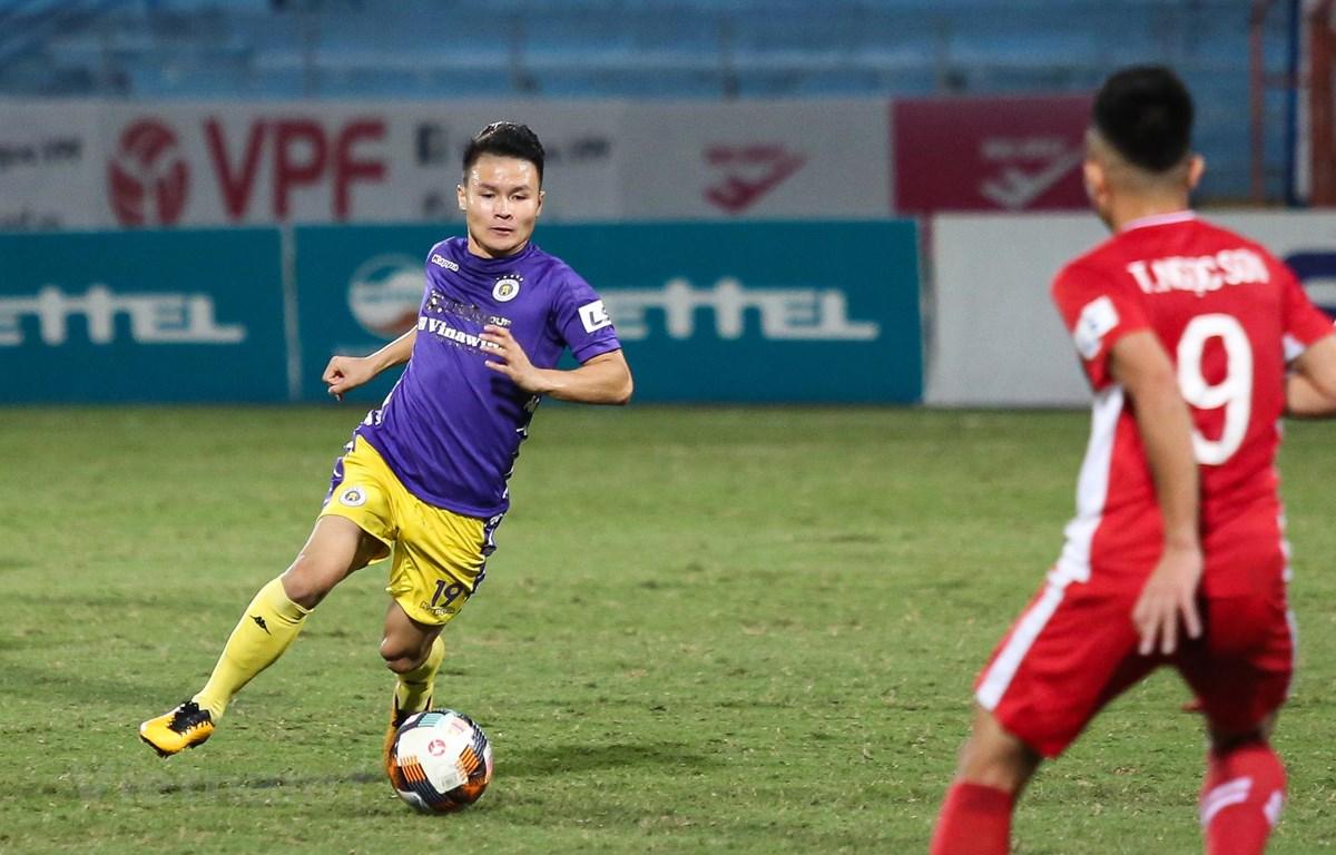 Hà Nội FC đang ở thế khó trong cuộc đua vô địch V-League 2020. (Ảnh: Hiển Nguyễn/Vietnam+)