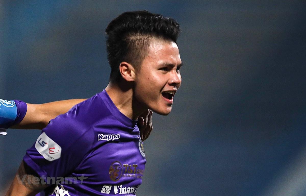 Hà Nội FC trở lại mạnh mẽ, vô địch V-League 2021 là điều được dự báo. (Ảnh: Hiển Nguyễn/Vietnam+)