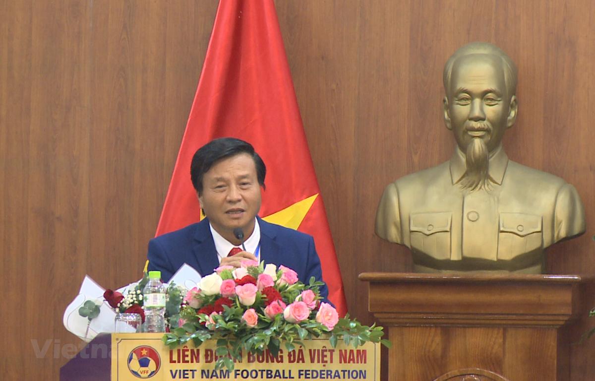 Ông Lê Văn Thành trúng cử vị trí Phó chủ tịch phụ trách Tài chính và vận động tài trợ VFF với 35/67 phiếu. (Ảnh: CTV/Vietnam+)