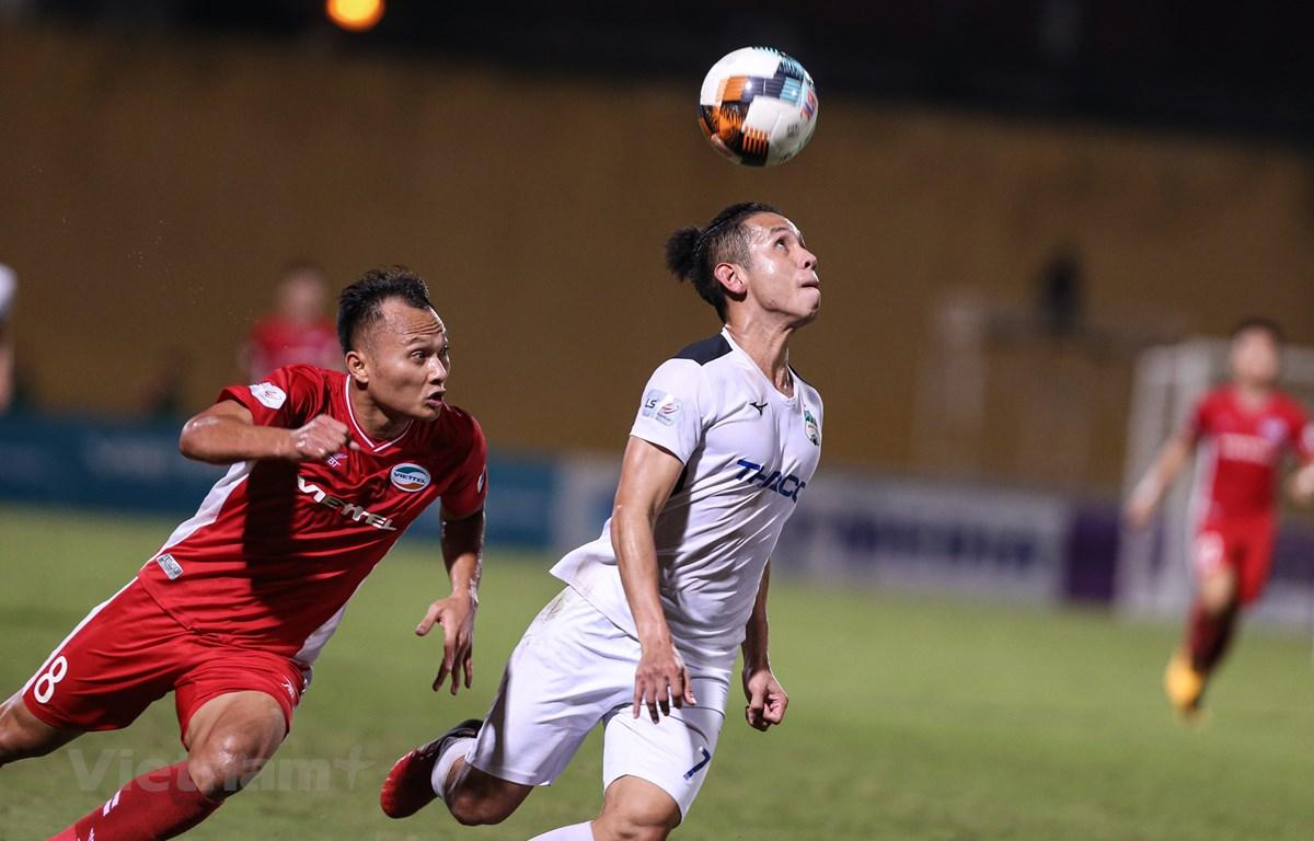 V-League 2021 mở màn với vòng 1 được dự đoán hấp dẫn và kịch tính. (Ảnh: Hiển Nguyễn/Vietnam+)
