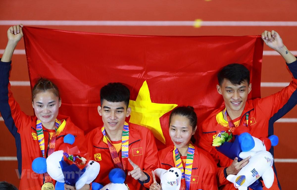 Thể thao Việt Nam đặt mục tiêu nằm trong tốp 3 đoàn vận động viên giành nhiều huy chương nhất tại SEA Games 31. (Ảnh: Bùi Lượng/Vietnam+)