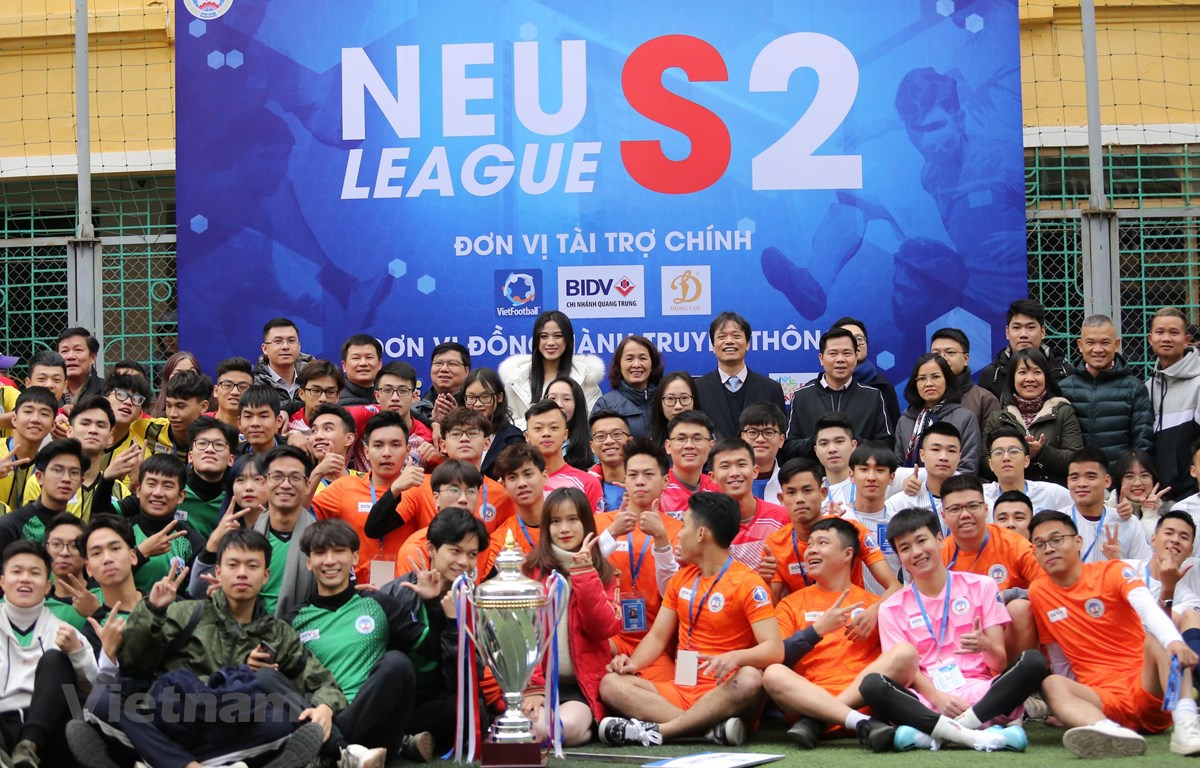 Đại học Kinh tế Quốc dân muốn tổ chức các giải đấu thể thao sinh viên chuyên nghiệp như các trường đại học hàng đầu châu Á. (Ảnh: Thanh Xuân/Vietnam+)