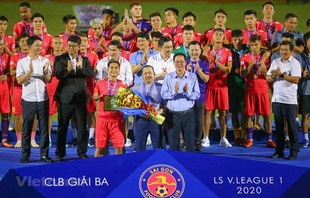 Sài Gòn FC về đích thứ ba tại V-League 2020. (Ảnh: VPF)