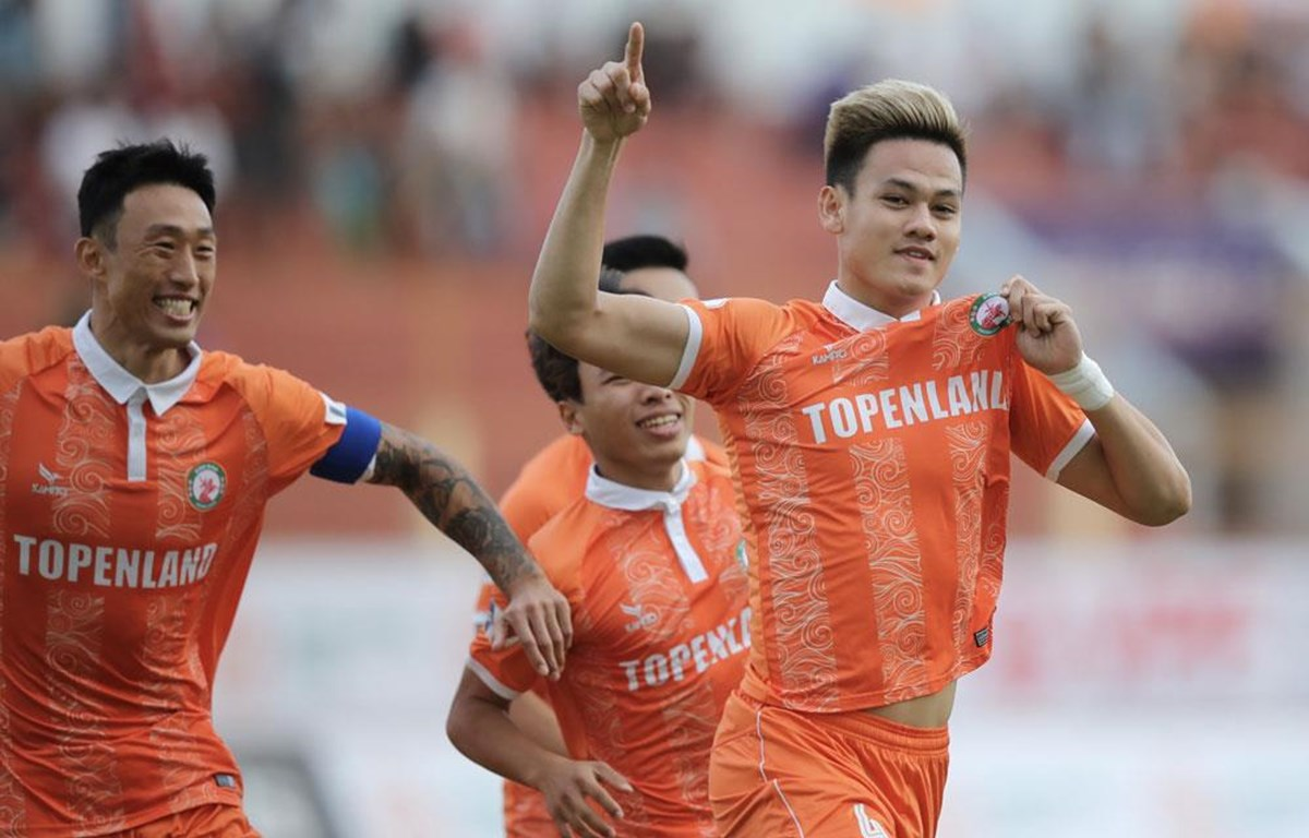 Bình Định đánh bại Sài Gòn FC trên sân nhà Quy Nhơn chiều 23/1. (Ảnh: VPF)