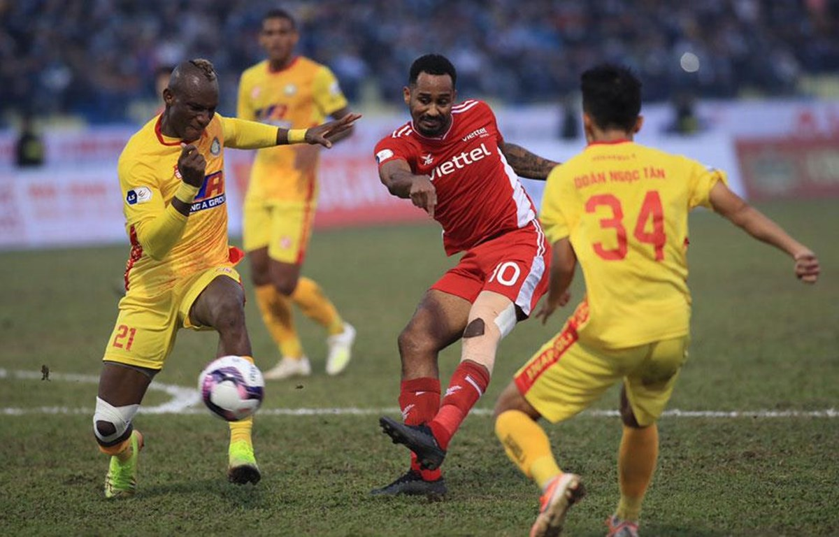 Viettel thi đấu bế tắc, bị Thanh Hóa cầm hòa 0-0 ở vòng 2 V-League 2021. (Ảnh: VPF)